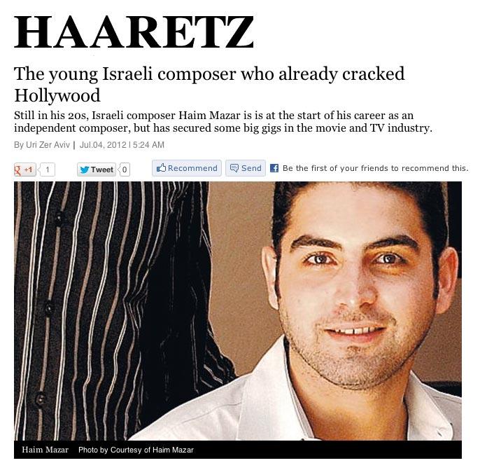 Haim Mazar - Haaretz